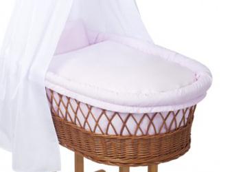 Little world babywiege stubenwagen babyschaukel rosa